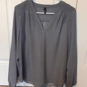 Women's sheer gray blouse